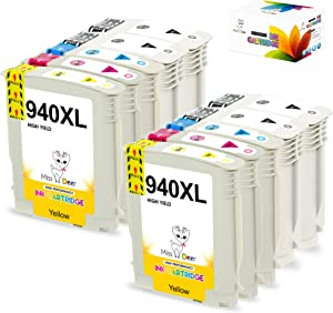 10 Pack Compatible 940xl Ink Cartridges, Replacement for HP 940 940XL 940 XL Work for Officejet Pro 8000 8500 8500A 8500A Plus Printer (4 Black, 2 Cyan, 2 Magenta, 2 Yellow) MS Deer