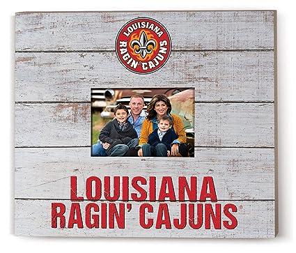 KH Sports Fan 13.63x11.63 Spirit Logo Louisiana State Fighting Tigers Team Slat Frame