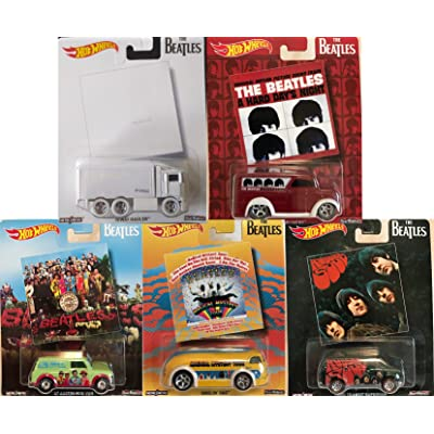 Hot Wheels Pop Culture The Beatles, Premium Adult Collectible Diecast Cars, Set of 5: Toys & Games