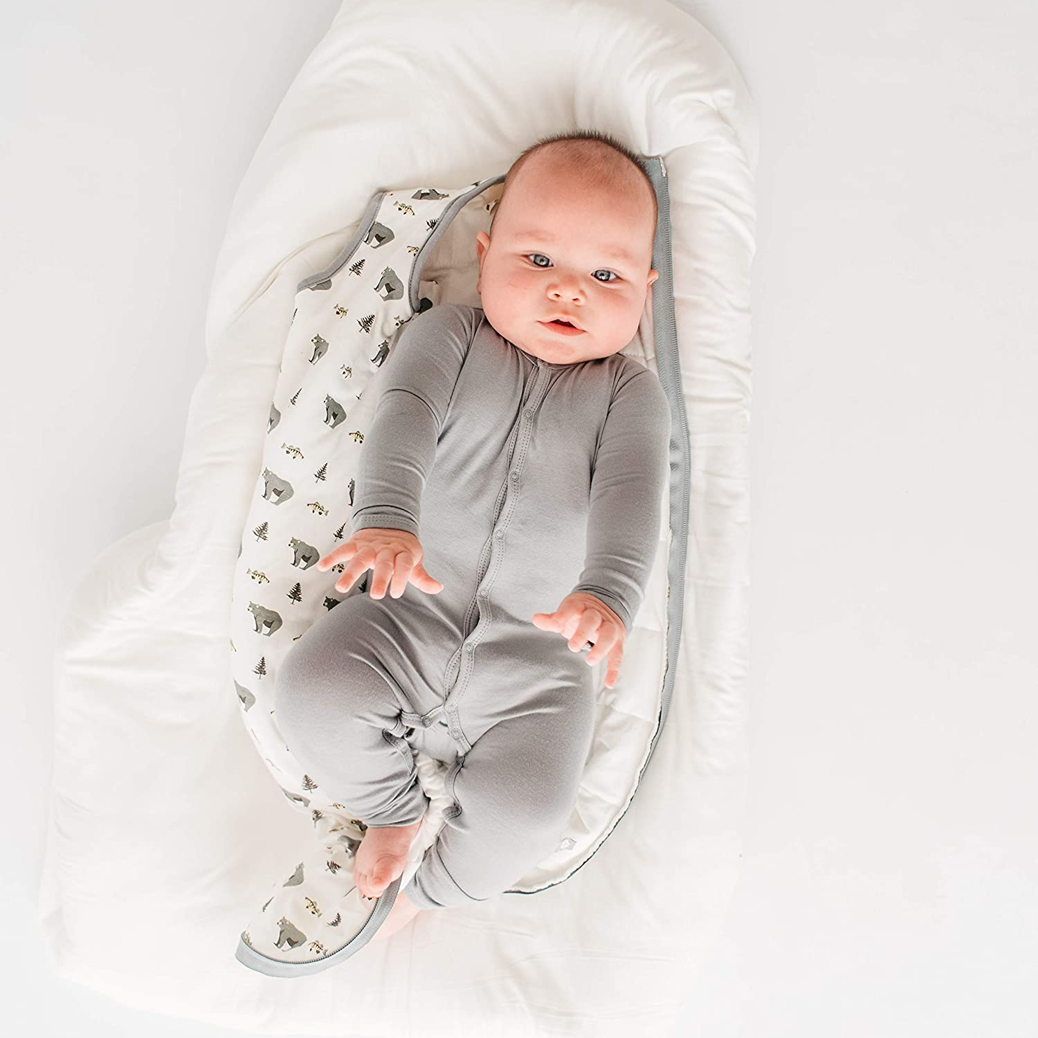 0-24 Months KYTE BABY Rompers 18-24 Months, Graphite Baby Footless Coveralls Made of Soft Organic Bamboo Rayon Material