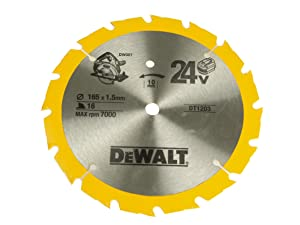 Dewalt Trim Saw Blade 165 X 10Mm X 36T Fine Cut Wood & Metal