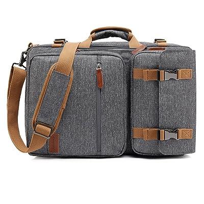 outlet CoolBELL Convertible Briefcase Backpack Messenger Bag Shoulder bag Laptop Case Business Briefcase Travel Rucksack Multi-functional Handbag Fits 17.3 Inch Laptop For Men / Women (Grey)