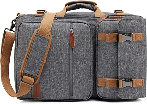 CoolBELL Convertible Briefcase Backpack Messenger Bag Shoulder Bag Laptop Case Business Briefcase Travel Rucksack Multi-Functional Handbag Fits 17.3 Inch Laptop
