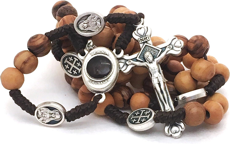 LION OF JUDAH MARKET Olive Wood Rosary - Bethlehem Holy Soil, Christian Gift from Jerusalem