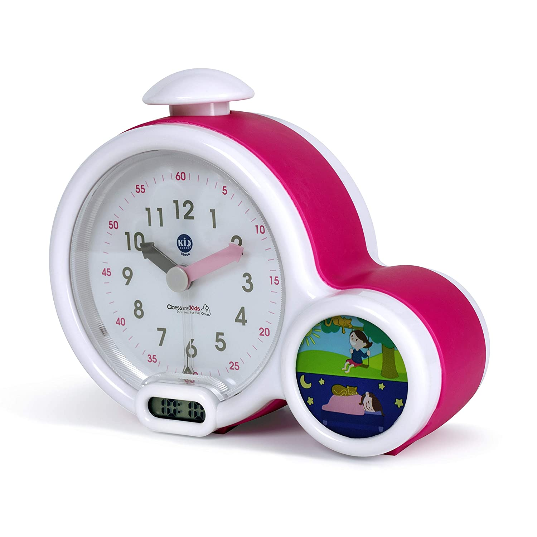 Claessens Kids KidSleep My First Alarm Clock and Sleep Trainer, Pink