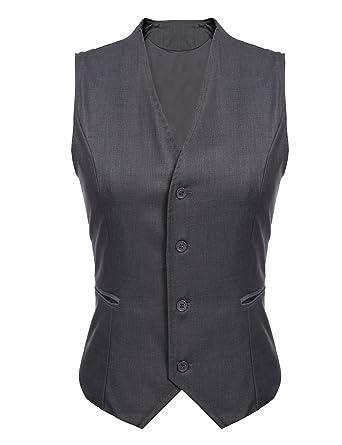 Gumod Women S Waistcoat Fully Lined 4 Button V Neck Economy Dressy
