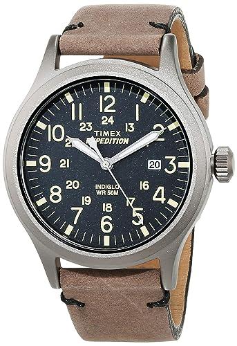 218e3745c75b Timex Expedition - Reloj análogico de cuarzo con correa de cuero para  hombre