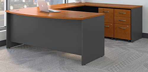 Bush Business Furniture Series C 72W x 36D Bow Front U Shaped Desk