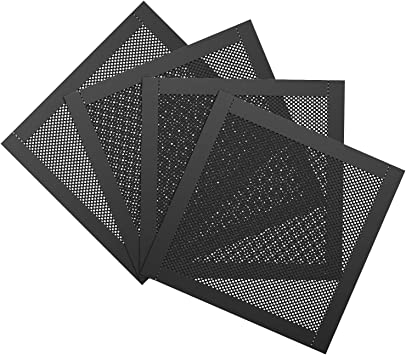 MoKo 120mm Filtro de Polvo de PVC Malla [4 Pack] Rejilla Cubierta ...