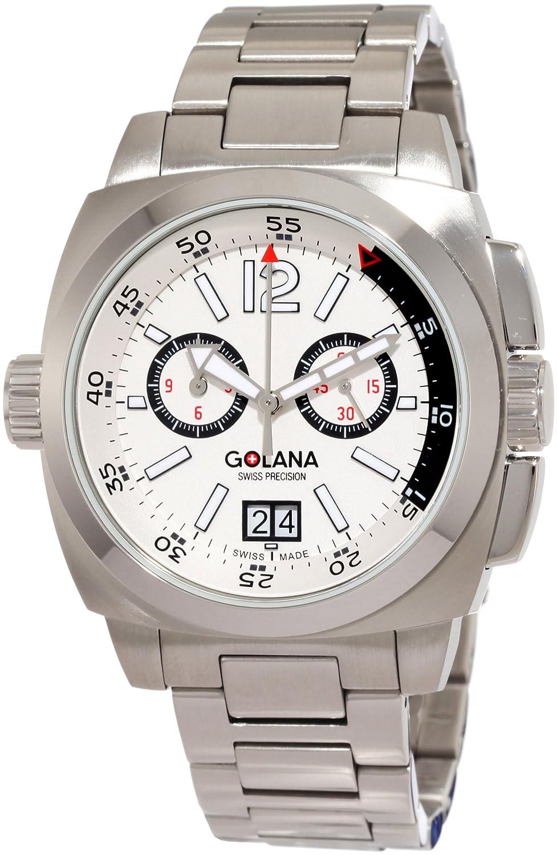 Golana Aero Pro 400 Chronograph mit Großdatum Swiss Made AE 400.4
