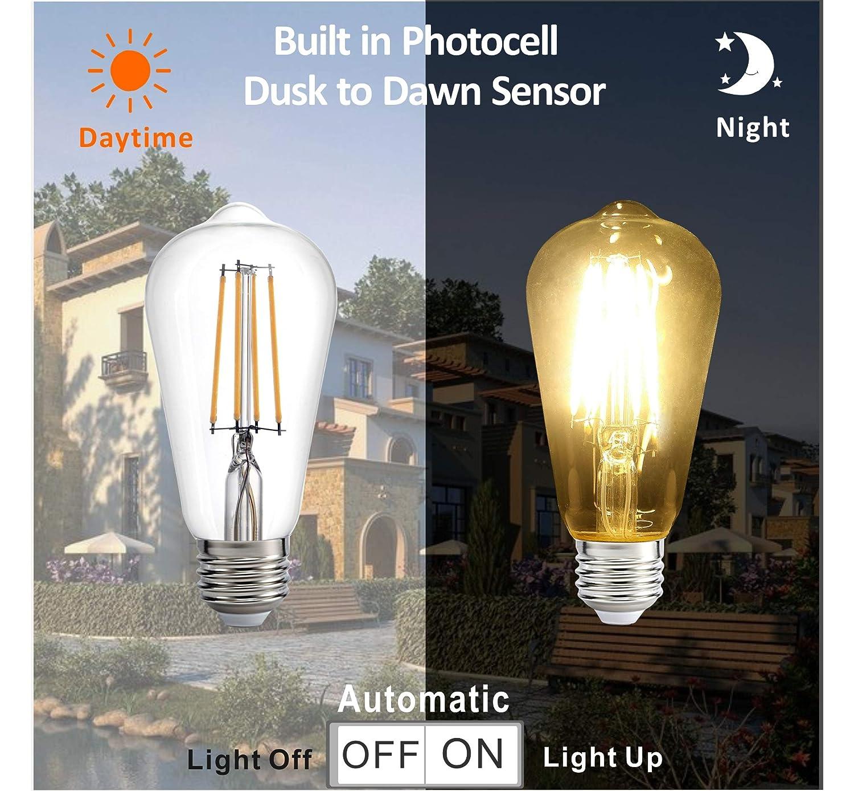 Amazon.com: Dusk to Dawn - Bombilla LED con sensor ...