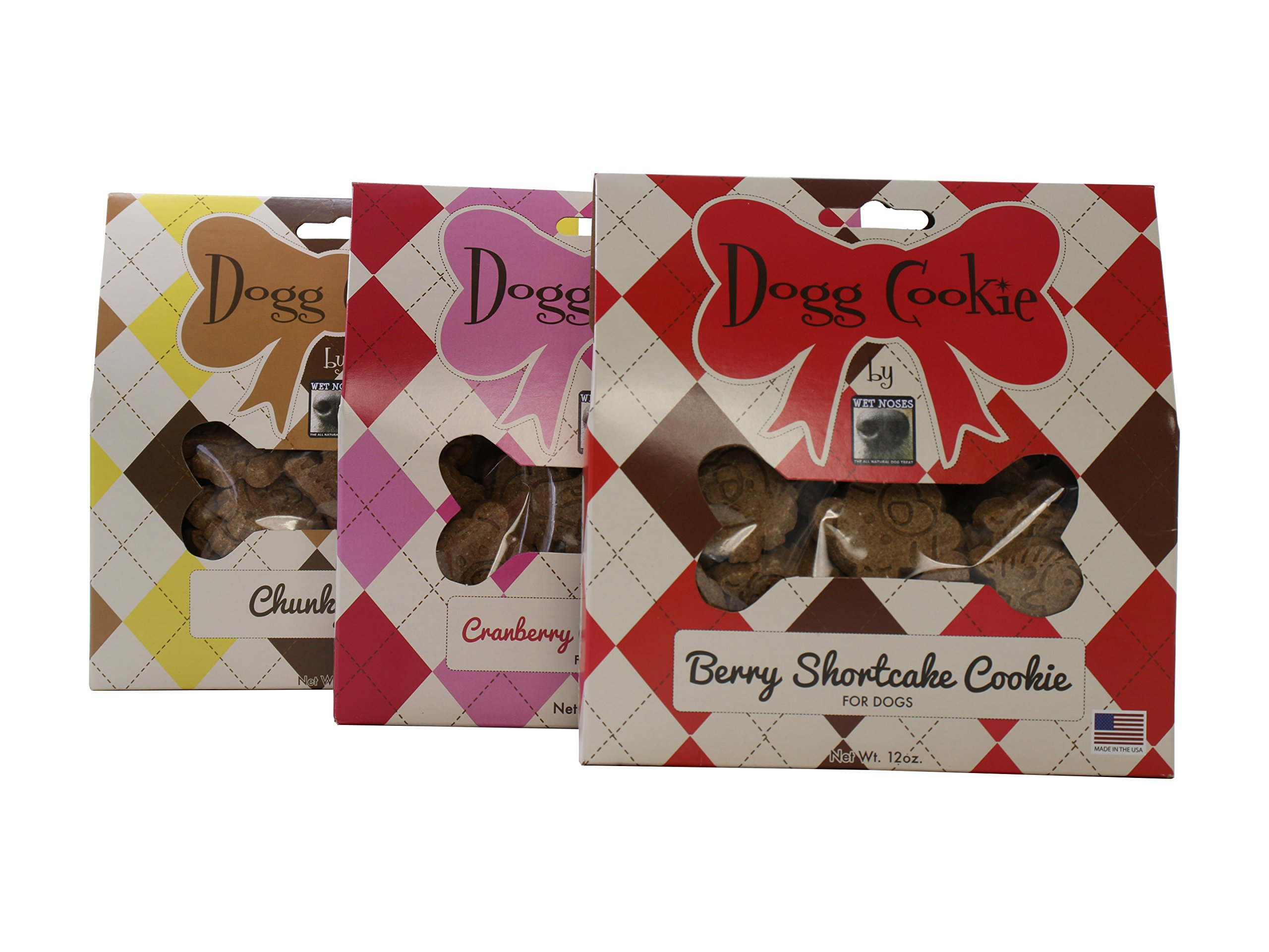Dogg Cookie Variety Bundle - Chunky Chip, Cranberry Oatmeal, Berry Shortcake