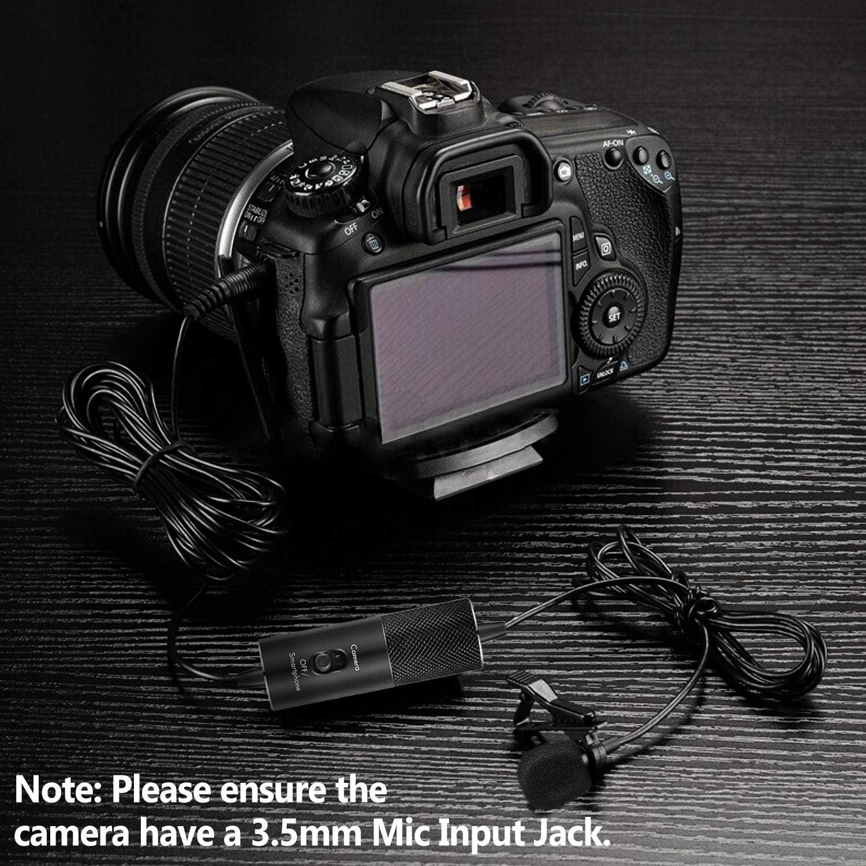 Micrófono Lavalier, IUKUS Professional con Clip micrófono de ...