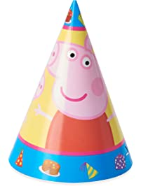 American Greetings Peppa Pig Party Hats, 8-Count