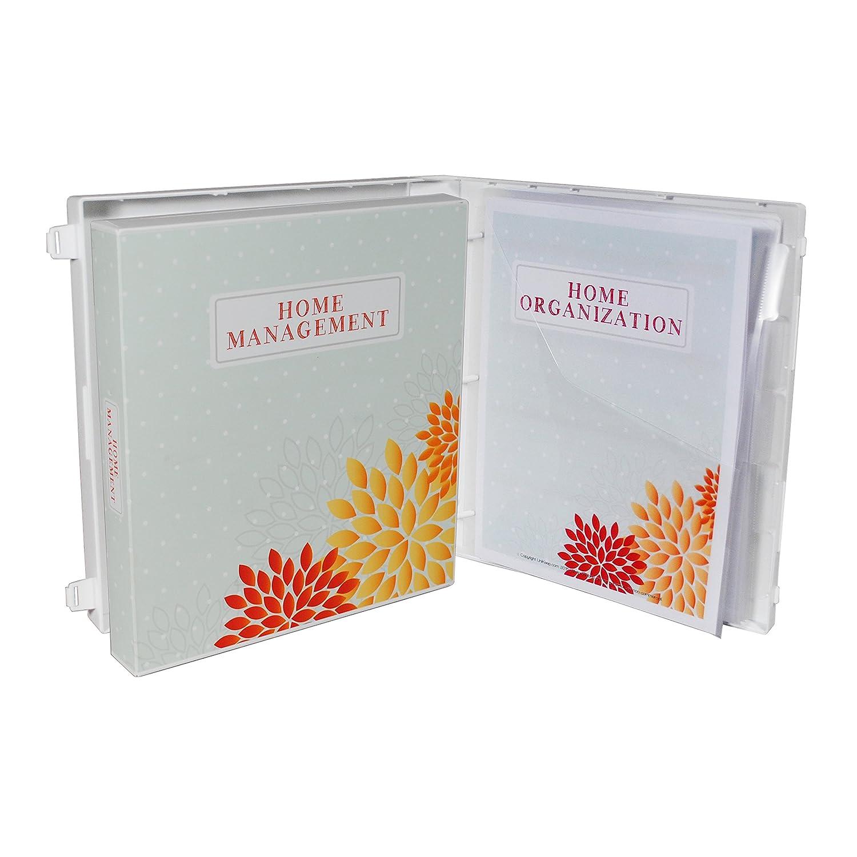 Amazon.com : Home Organization Binder - Polka Dots & Flowers ...