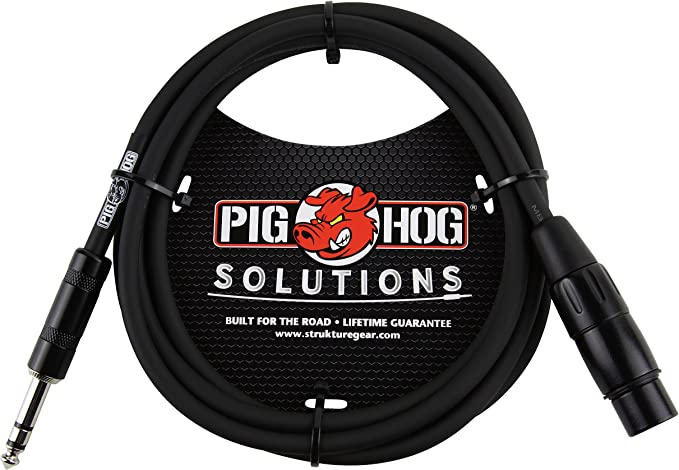 Pig Hog PX-TMXF6 6/' TRS Male to XLR Female Balanced Cable