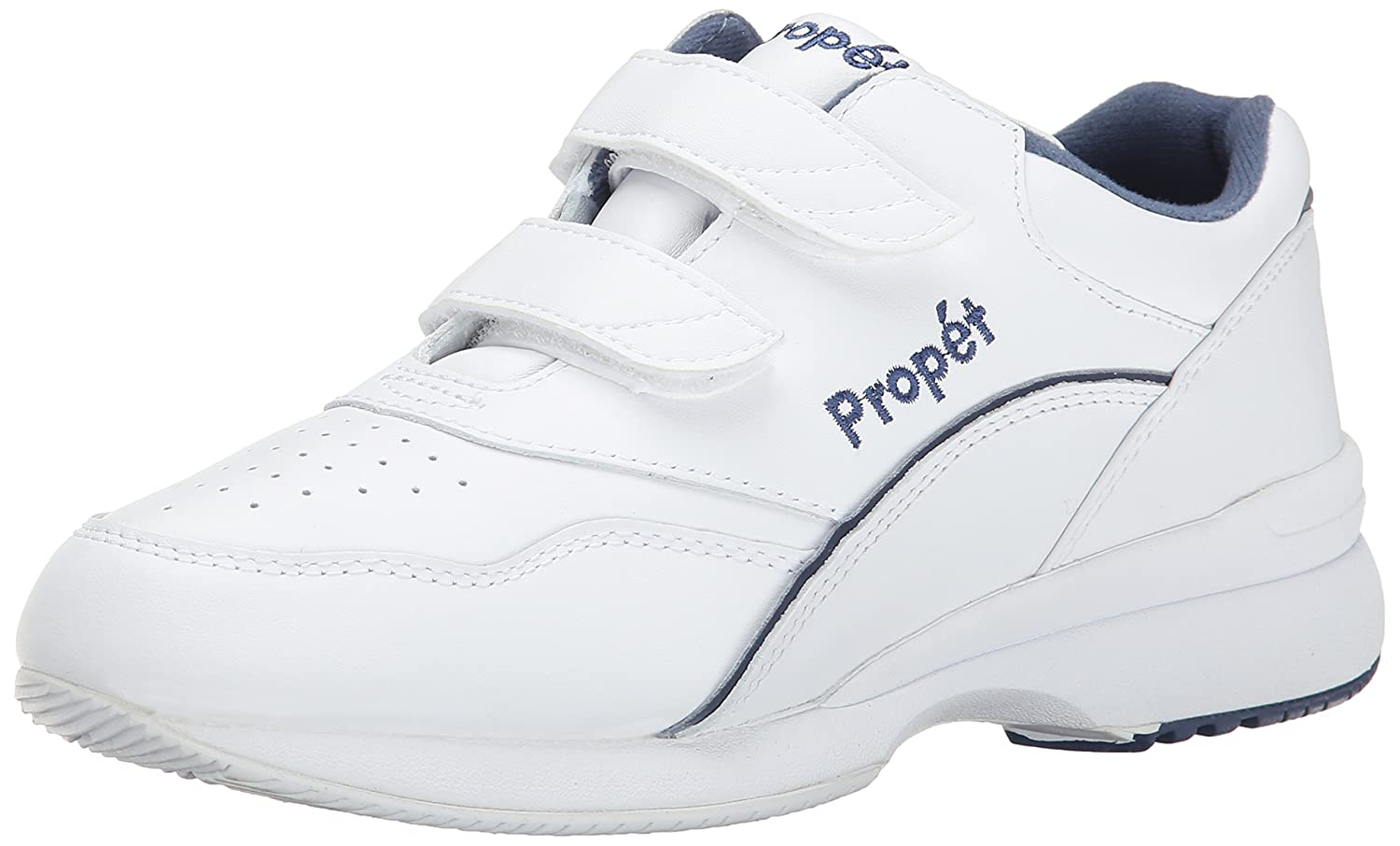 Propet Women's Tour Walker Strap Sneaker B00AO3RCX6 6 N US|White/Blue