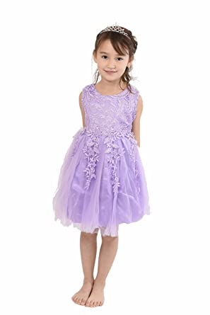 f060f39d5d198 UK Seller Gorgeous Girl Flower Dress with Matching Tiara Perfect for All  Occasion Birthday Wedding Bridesmaid