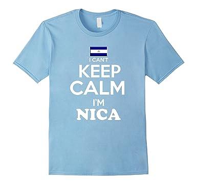 Mens Nicaragua Keep Calm Nica Camiseta Nicaraguan Unisex tshirt 3XL Baby Blue