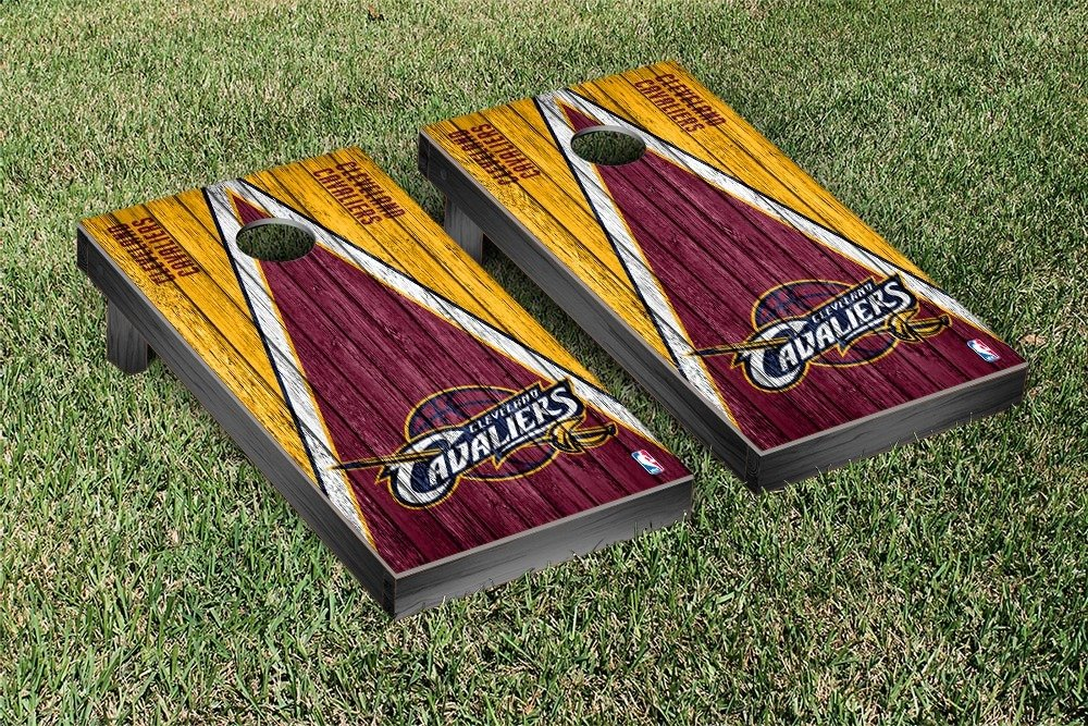 Cleveland Cavaliers NBA Basketball Regulation Cornhole Game Set Triangle Weathered Version