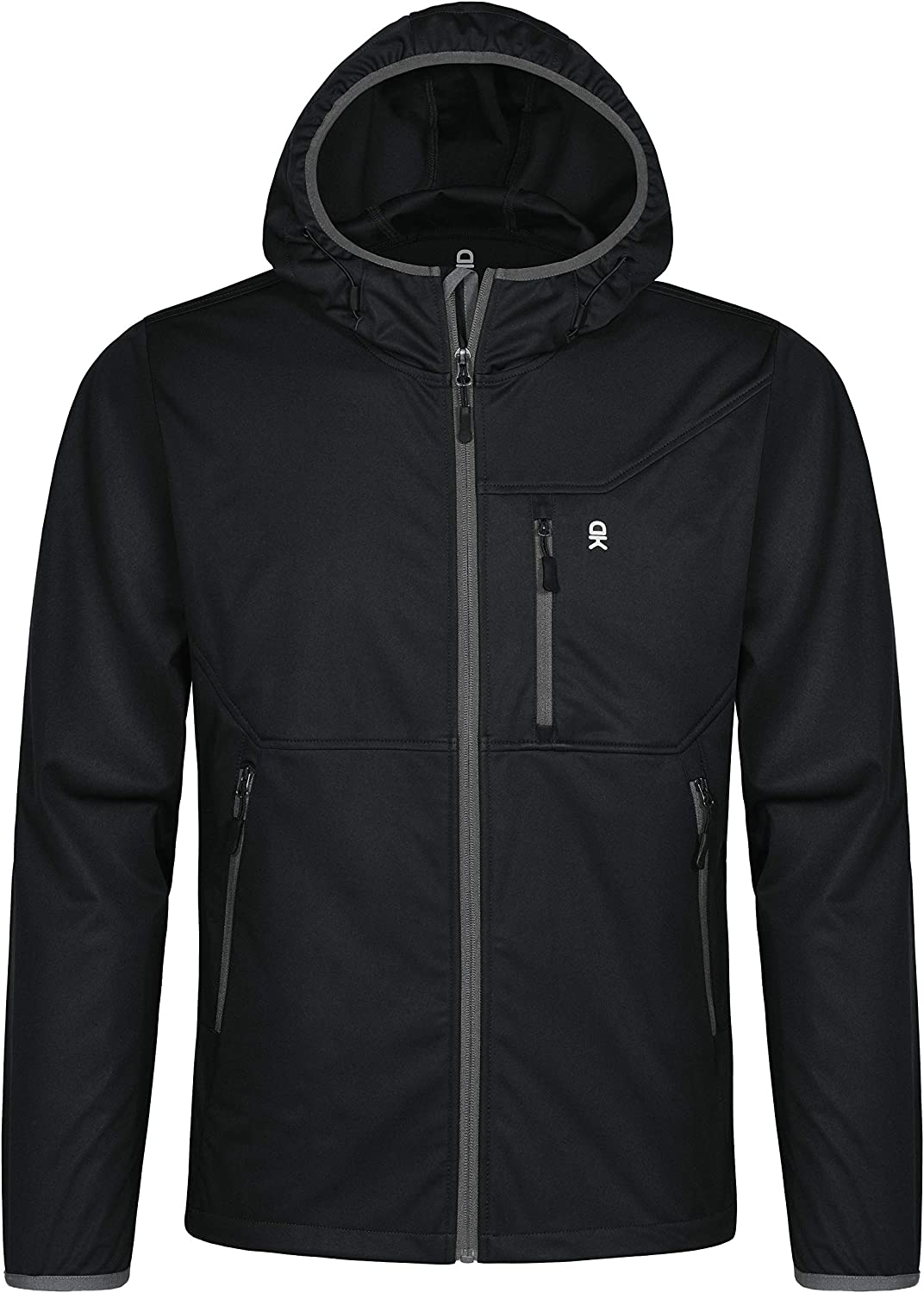 Water Repellent Windproof Little Donkey Andy Men/'s Lightweight Hooded Softshell Jacket for Travel Hiking Running