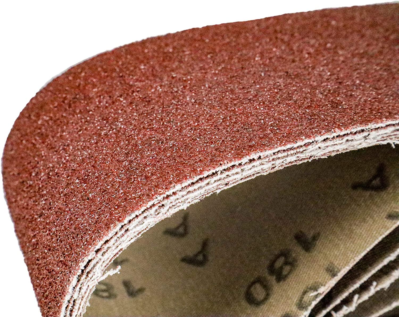25 nastri abrasivi in tessuto per levigatrice a nastro//carta vetrata 75 x 533 mm 80-120 5 x grana 40-60 180