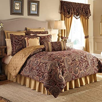 comforter reversible croscill sets ava beige bedding set tree