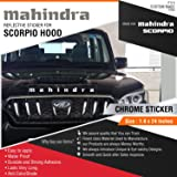 CarMetics Mahindra Sticker for Mahindra Scorpio Hood Chrome Vinyl