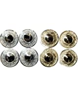 Dancers World SILVER or GOLD Professional Finger Cymbal Sagats Zill Set - 4 zills