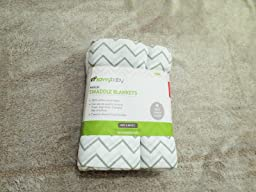 Amazon.com : Ziggy Baby Muslin Swaddle Blanket Set, Grey/White, 3 ...