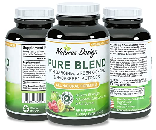 NEW Pure Garcinia Cambogia, Green Coffee Bean & Raspberry Ketones Complex + Green Tea - Highest Grade Pure Blend, Quality & Premium Formula - Recommended Dosages, Guaranteed By Brandon Science