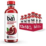 Bai Flavored Water, Ipanema Pomegranate, Antioxidant Infused Drinks, 18 Fluid Ounce Bottles, 12 Count