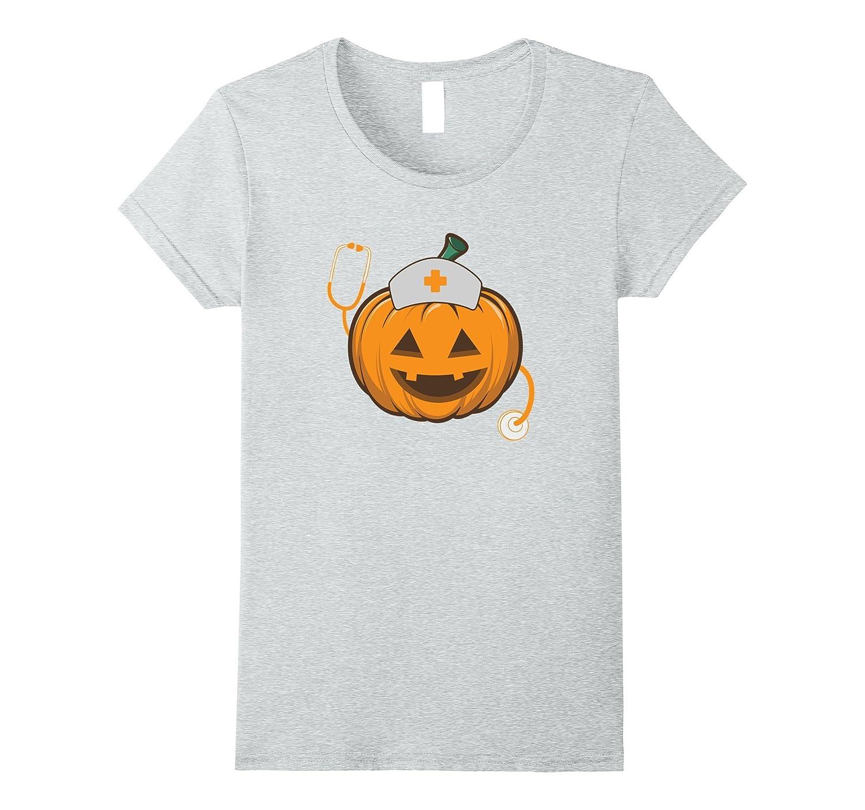 2b446f3c Womens Womens Halloween Pumpkin Scrubs T-Shirt For Nurse Pumpkins ...