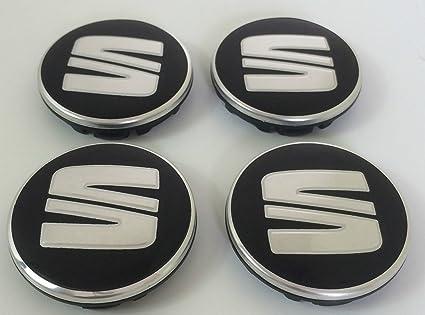 Logo von Seat in Silber und Rot Silber und Rot OE Group 1P0601165/Set von 4 Zierblenden aus Legierung f/ür 4 Felgen von 63/mm Farben: Chrom