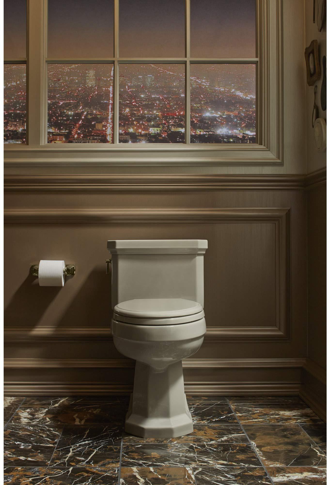 Kohler K-16265 Horizontal Toilet Paper Holder, Vibrant French Gold