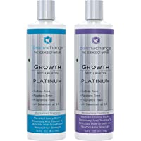 Hair Growth Organic Shampoo and Conditioner Set - With Biotin and Argan Oil - Supports Regrowth and Prevents Hair Loss - Dry Damaged and Color-Treated Hair - Sulfate and Paraben Free (16oz)