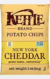 product image for Kettle Brand Potato Chips, New York Cheddar Bags, 2 Ounce (Pack of 24)