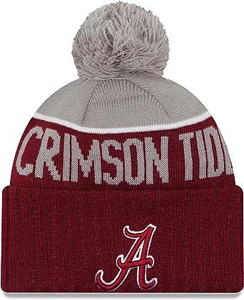 OTS NCAA Alabama Crimson Tide Mens Raised Cuff Knit Cap Team Color One Size