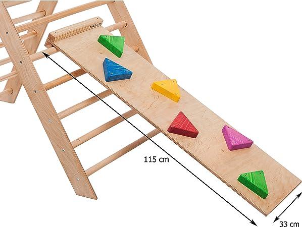 RINAGYM - Tabla Antideslizante para Escalera de gallinas (Accesorio para rampa Triangular de Escalada, 115 x 35 cm): Amazon.es: Deportes y aire libre