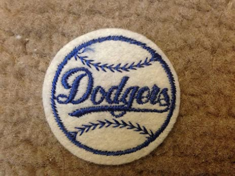 1970 Vintage Los Angeles Dodgers Iron On Patch 2 Circles Old Store