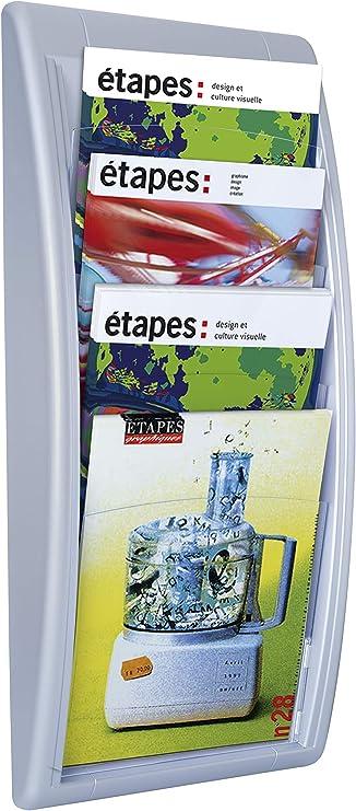 4 Scomparti Paperflow K540615 Quick Fit A4 Portariviste da Muro