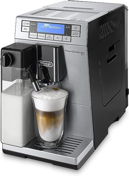 DeLonghi Primadonna XS Independiente Totalmente automática Máquina espresso 1.3L 2tazas Negro, Acero inoxidable - Cafetera (Independiente, Máquina espresso, 1,3 L, Granos de café, Molinillo integrado, Negro, Acero inoxidable): Amazon.es: Hogar