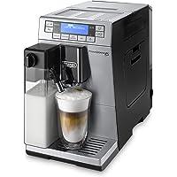 De'Longhi PrimaDonna XS ETAM 36.366.MB Kaffeevollautomat (Digitaldisplay, integriertes Milchsystem, Lieblingsgetränke auf Knopfdruck, Edelstahlfront, 2-Tassen-Funktion) silber/schwarz