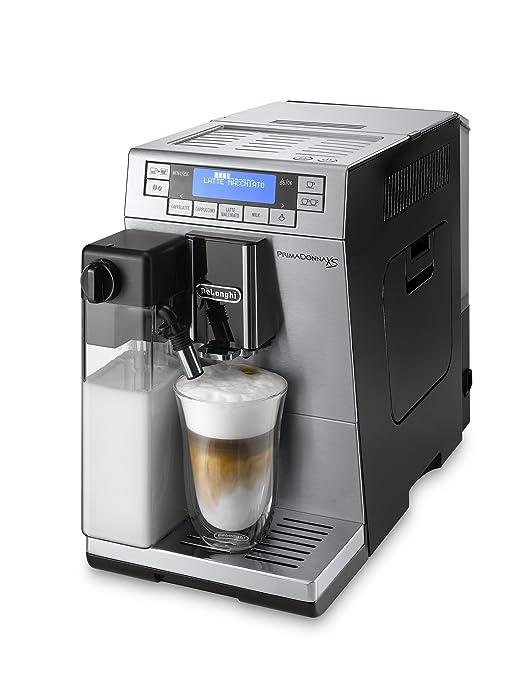 DeLonghi Primadonna XS Independiente Totalmente automática Máquina espresso 1.3L 2tazas Negro, Acero inoxidable - Cafetera (Independiente, Máquina ...