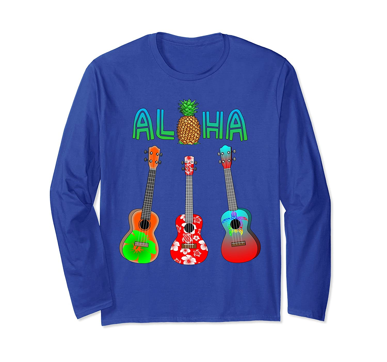 Aloha Ukulele Hawaiian Musician Long Sleeve T-Shirt-mt
