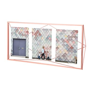 Umbra Prisma Multi Picture Frame – Photo Display for Desk or Wall, Copper