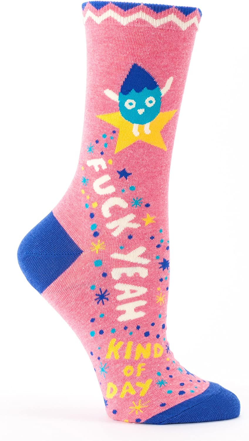 Fuck Yeah Kind Of Day Crew Socks At Amazon Women S Clothing Store