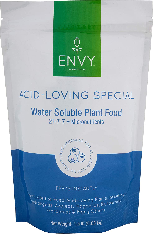 ENVY Plant Foods Acid-Loving Special (21-7-7) Water Soluble Hydrangea, Azalea, Berry Plant Food (1.5 lb)