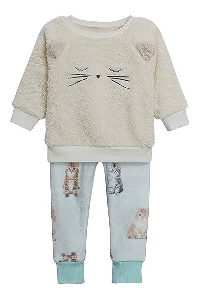 next Niñas Pijama Polar De Gato (9 Meses - 8 Años) Crudo/Teal 7-8 Años: Amazon.es: Ropa y accesorios