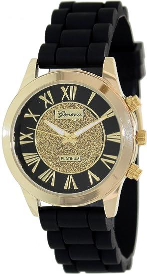 Geneva Platinum 2786.Gold.Black Mujeres Relojes